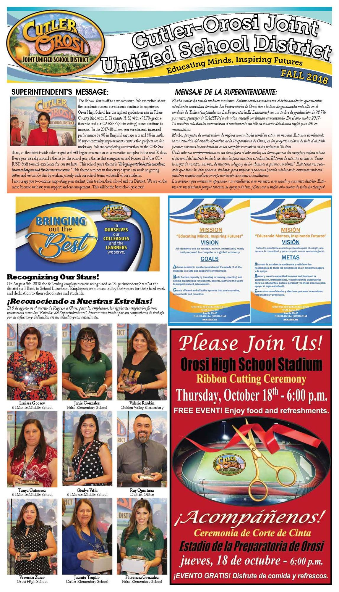 Fall 2018 - COJUSD Newsletter